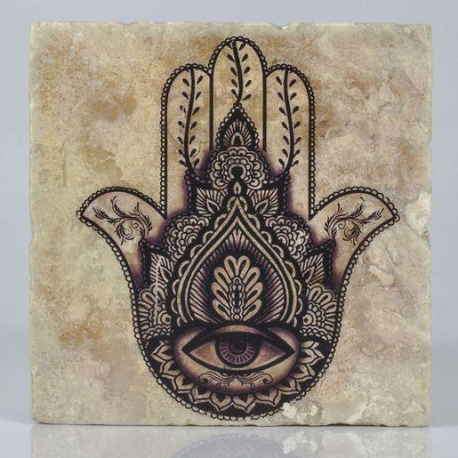 Coaster Travertine - Hand Of Fatima / Black 5