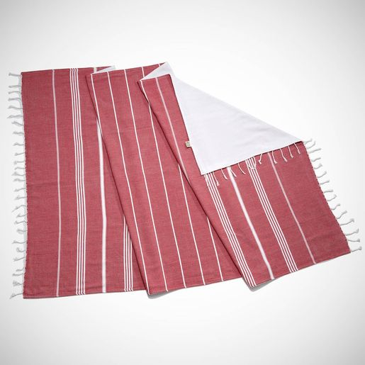 TOWEL ANI  CP- DOUBLE FACE /  BORDEAUX
