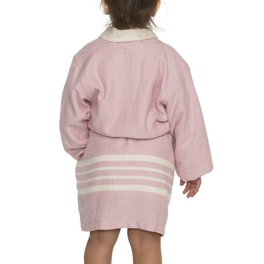 Bathrobe Kiddo Terry - Rose Pink