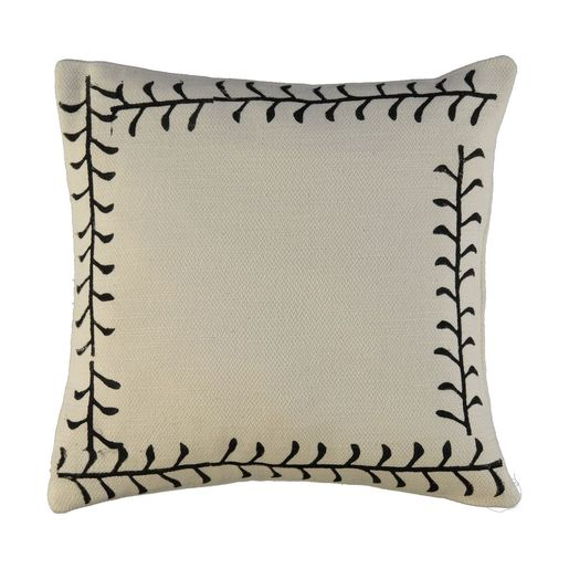 Cushion Cover / 16 Hand Printed - Black