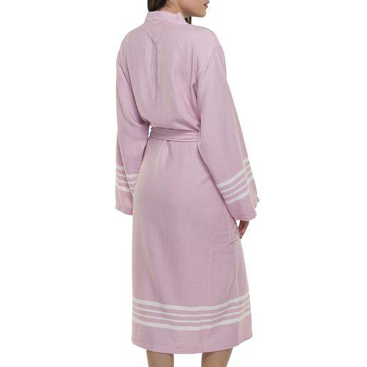 Bathrobe Sultan kimono collar - Rose Pink