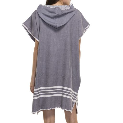 PONCHO KREM SULTAN / DARK GREY