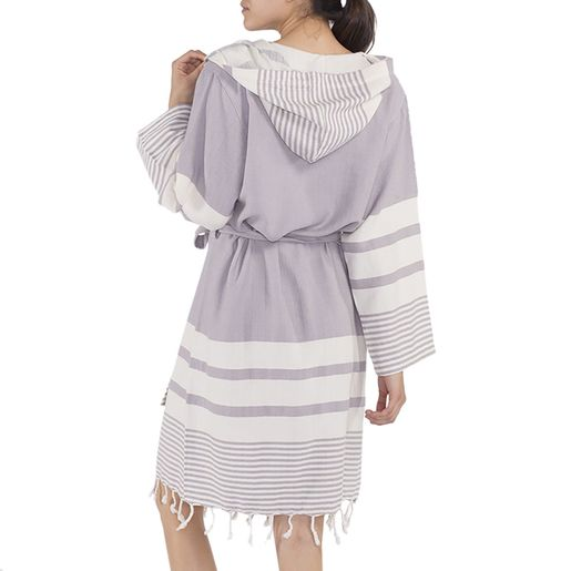BATHROBE TUBA BAMCOT  / LIGHT GREY