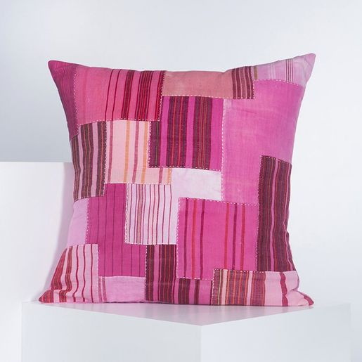 Cushion Cover - Patchwork BR 60 x 60  - Pink
