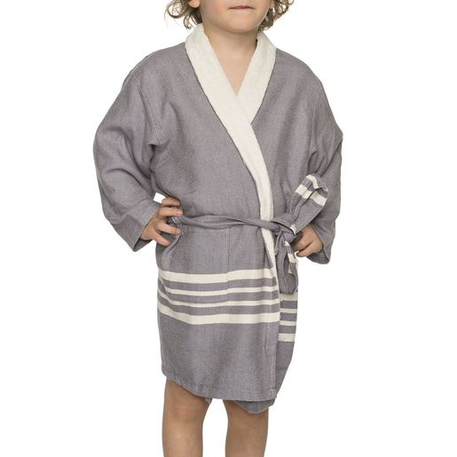 Bathrobe Kiddo Terry  - Dark Grey