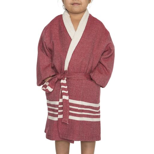 Bathrobe Kiddo Terry - Bordeaux