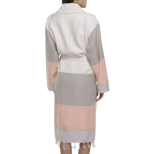 Bathrobe Twin Sultan with towel / Taupe - Melon