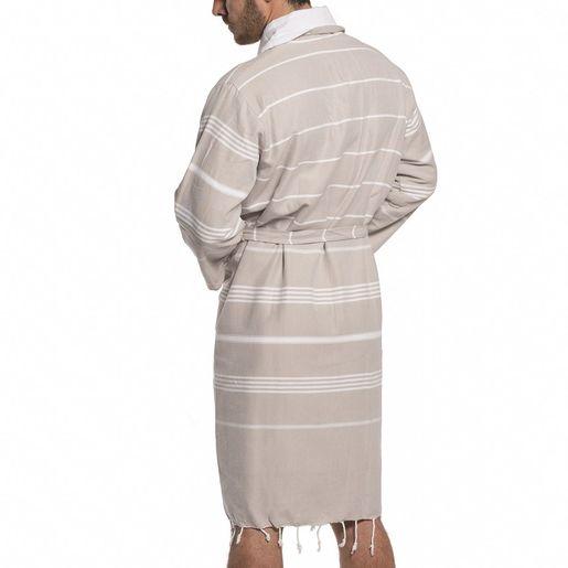 Bathrobe Leyla / With Towel Lining - Taupe