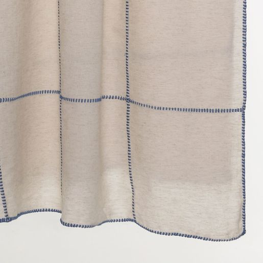 THROW LINEN PATCHWORK - AIR BLUE STITCHED