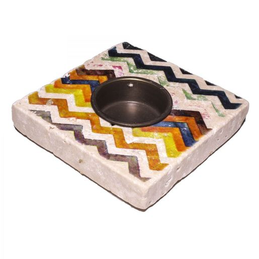 Candle Holder Lodge - Travertine 32A