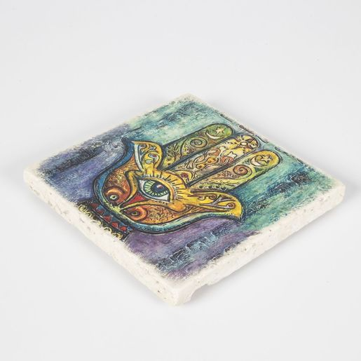 Coaster Travertine - Hand Of Fatima / Colorful 3