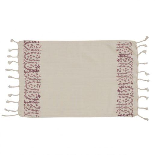 Peshkir Mini Towel - Hand Printed 01 / Dust Rose (30x50)