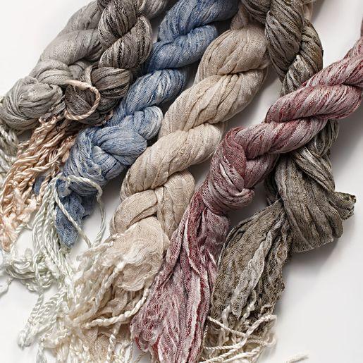 Burgu Scarf Linen & Silk - Khaki