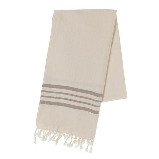 Peshtemal Sultan - Taupe Stripes