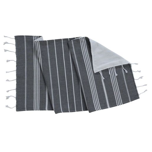 ANI - MINI DOUBLE FACE TOWEL / BLACK