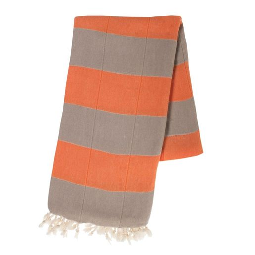 Peshtemal Double - Taupe / Orange