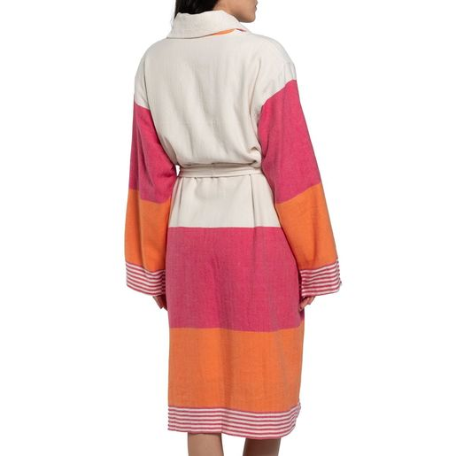 Bathrobe Twin Sultan with towel / Fucshia - Orange