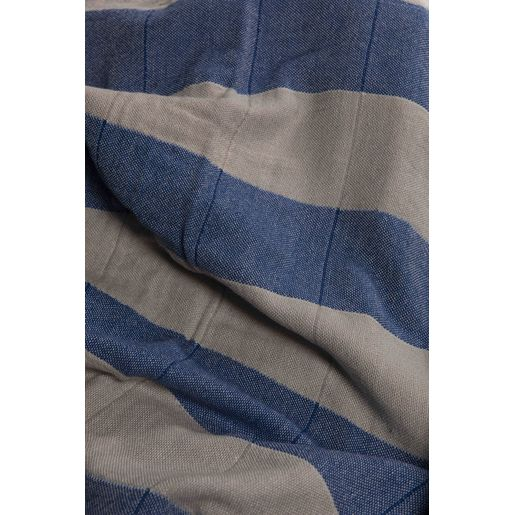 Peshtemal Double - Taupe / Royal Blue