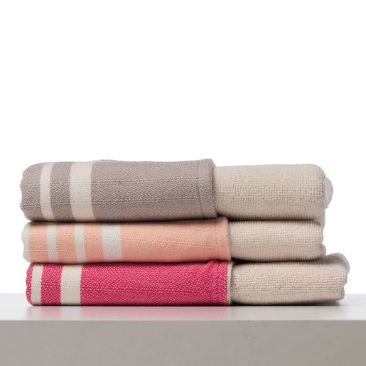 KREM SULTAN MINI TOWEL DOUBLE FACE / TAUPE