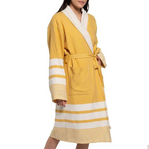 Bathrobe Tabiat with towel  - Yellow