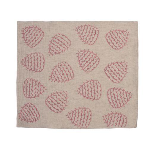 Service Mat/ Napkin - Hand Printed 05 / Dusty Rose