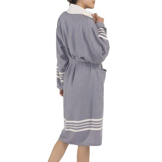Bathrobe Sultan with towel - Dark Grey