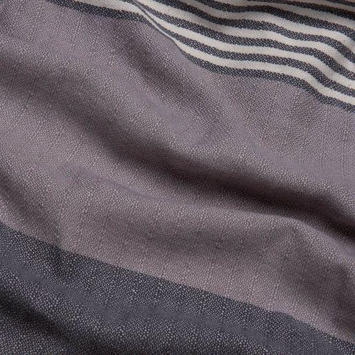 TOWEL KSC3 DOUBLE FACE / DARK GREY - LIGHT GREY