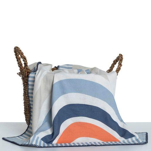 Throw Kiddo  - Bora / Vis - Printed Fabric