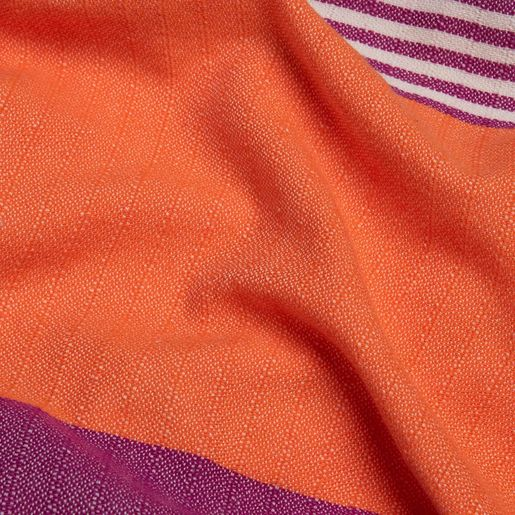 TOWEL KSC3 DOUBLE FACE / LIGHT PURPLE - ORANGE