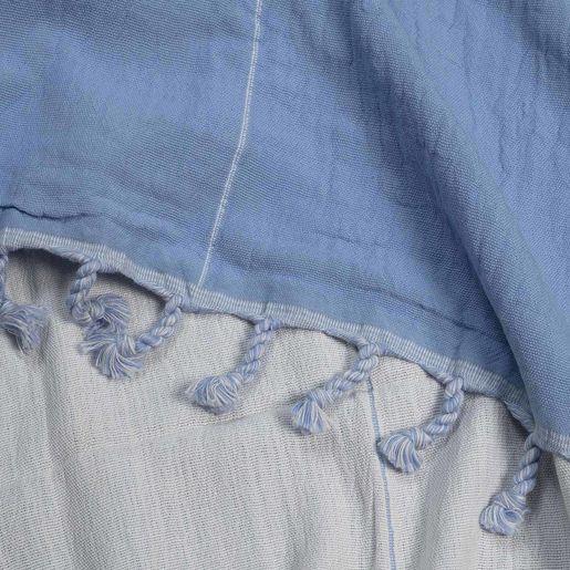 Peshtemal Double Side / Blue - White